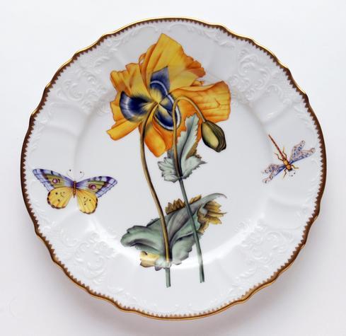 Yellow Poppy Flower Dinner Plate