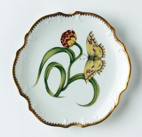 $308.00 Yellow Tulip Bread & Butter Plate