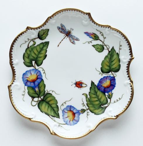 Anna Weatherley  Morning Glory Flat Salad / Dessert Plate $284.00