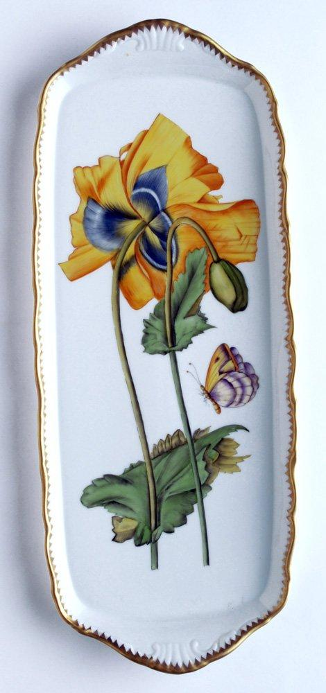Anna Weatherley  Giftware Sandwich Tray w/ Large Yellow Flower $498.00