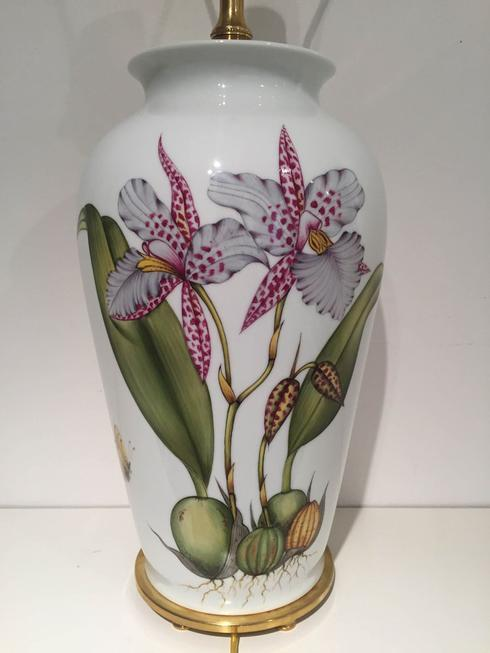 $895.00 Special Edition Orchids Lamp