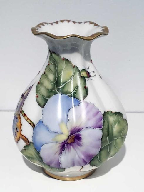 $216.00 Purple Pansy Bud Vase