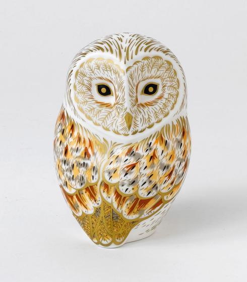 $228.00 Owl Winter Paperweight