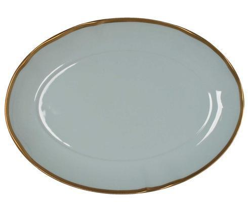 Anna Weatherley Colors Powder Blue Oval Platter $135.00