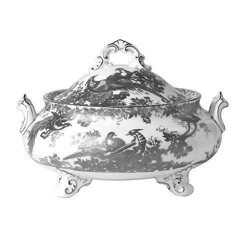 Royal Crown Derby  Aves - Platinum Covered Vegetable Dish $942.00