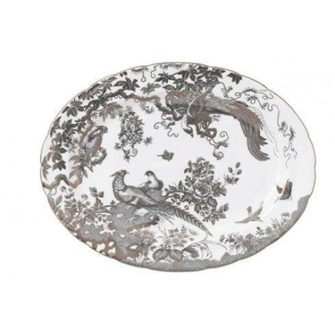 Royal Crown Derby  Aves - Platinum Medium Platter $668.00