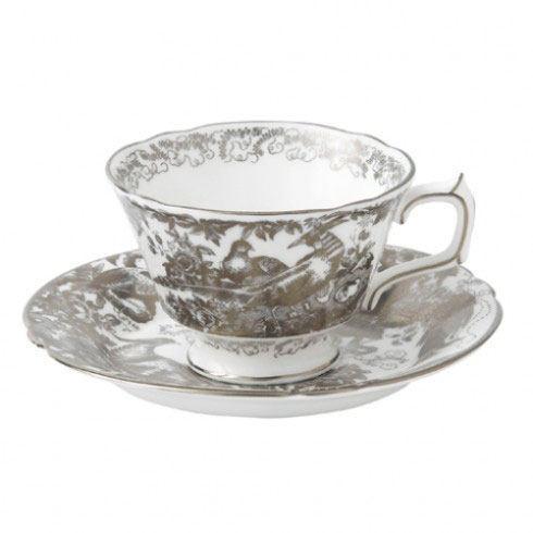 Royal Crown Derby  Aves - Platinum Tea Cup $124.00