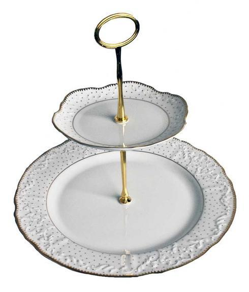 $100.00 2 Plate Tiered Cake Stand