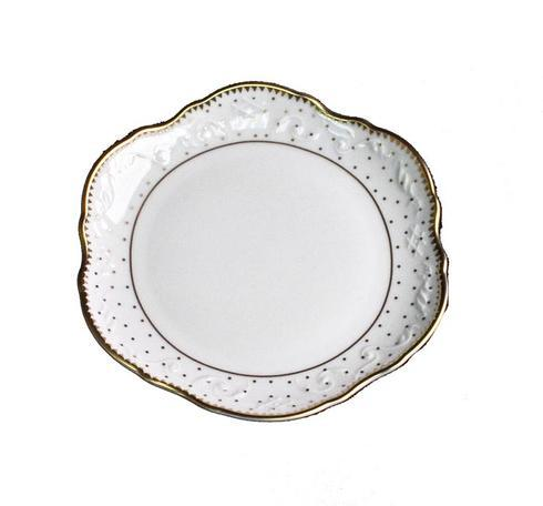 Anna Weatherley  Simply Anna - Polka Gold Bread & Butter Plate $48.00