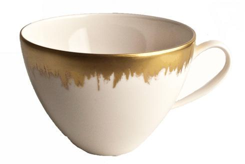 Kim Seybert  Aura (Brushstroke) Opal Tea/Breakfast Cup with Gold Brushstroke $88.00