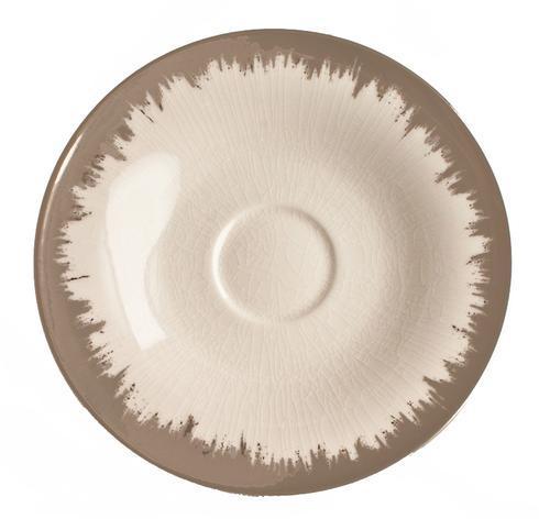 $54.00 Opal Tea/Breakfast Saucer with Platinum Brushstroke