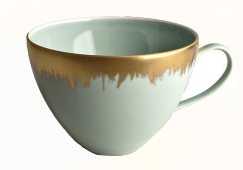 $88.00 Sea Glass Tea/Breakfast Cup with Gold Brushstroke