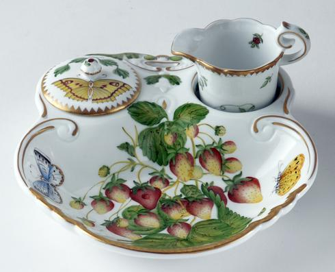 Three Piece Strawberry Dish