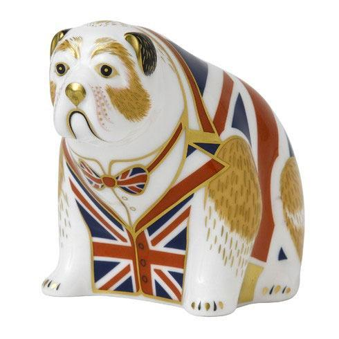 $254.00 Bulldog Union Jack Paperweight