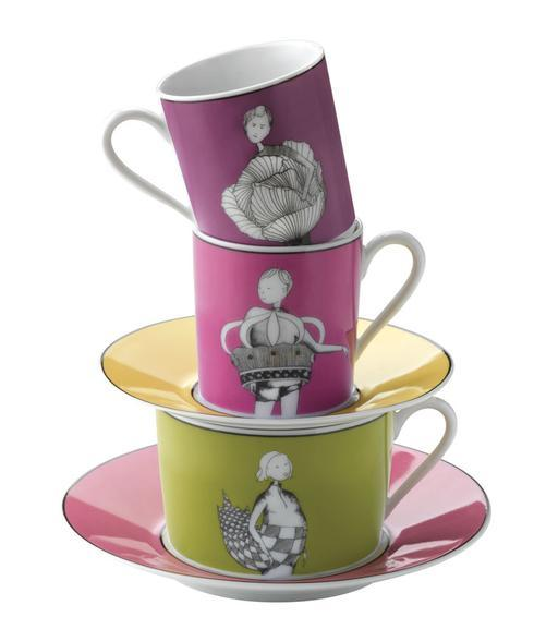 $29.50 Set of 4 Tea Cups and Saucers in Gift Box