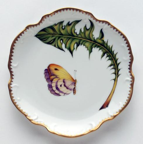 Anna Weatherley  Green Leaf Butterfly Bread & Butter Plate $260.00