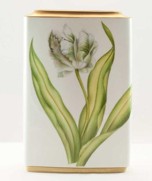 $320.00 White Tulips Square Vase