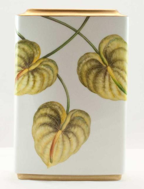 $320.00 Yellow Leaf Square Vase