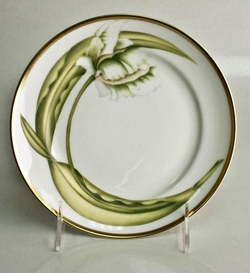Anna Weatherley  White Tulips Bread and Butter Plate $38.00