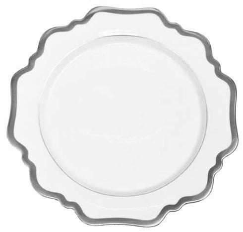 Anna Weatherley  Antique White with Brushed Platinum Dessert Plate $68.00