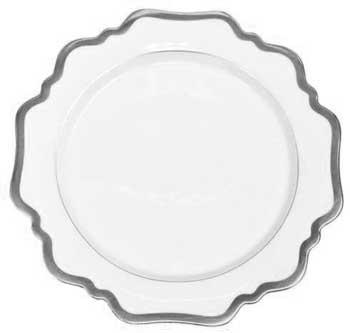 Anna Weatherley  Antique White with Brushed Platinum Bread and Butter Plate $58.00