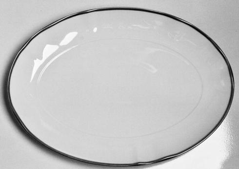 Anna Weatherley  Simply Elegant - Platinum Oval Platter $110.00