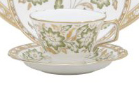Green Panel Accent Tea Saucer