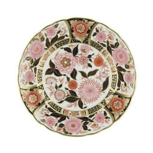 Royal Crown Derby  Imari Accent Pink Bouquet Plate in Gift Box $260.00
