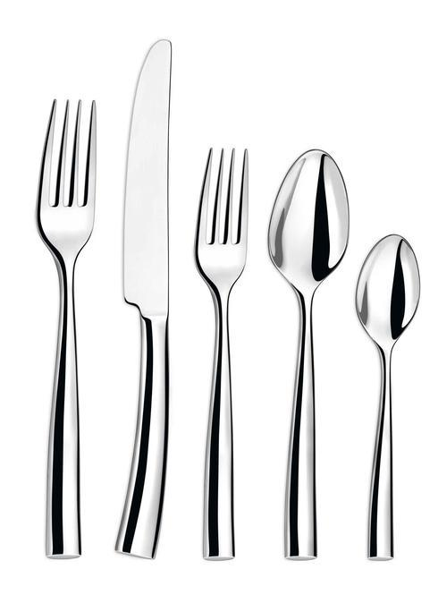 Couzon Stainless Steel Flatware Silhouette Five Piece Place Setting $135.00