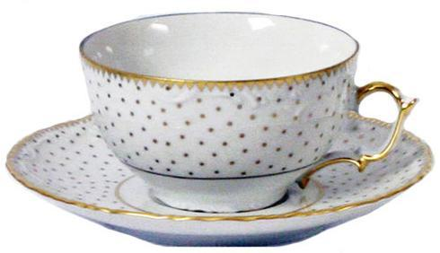 Anna Weatherley  Simply Anna - Polka Gold Tea Cup $50.00