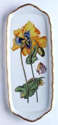 Anna Weatherley Giftware Sandwich Tray w/ Large Yellow Flower